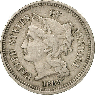 [#97803] United States, Nickel 3 Cents, 1869, U.S. Mint, Philadelphia
