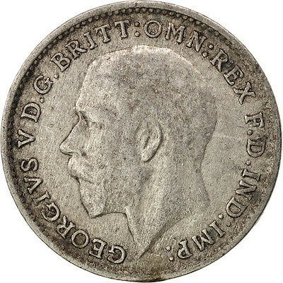 [#409939] Great Britain, George V, 3 Pence, 1921, EF(40-45), Silver, KM:813a