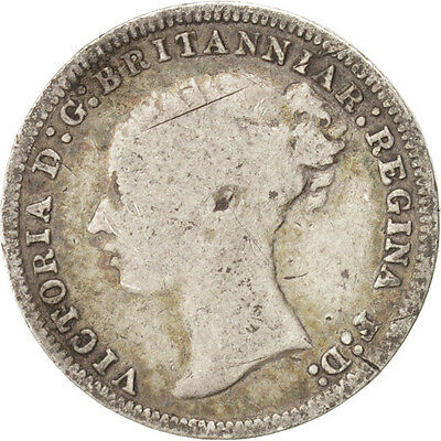 [#15304] Great Britain, Victoria, 3 Pence, 1876, VF(20-25), Silver, KM 730