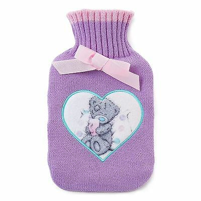 Me to You Purple Hot Water Bottle & Soft Knit Cover - Tatty Teddy Bear