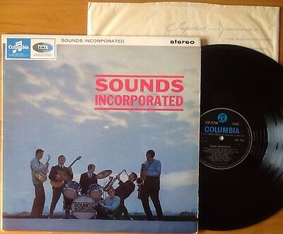 SOUNDS INCORPORATED - RARE STEREO 1964 UK Columbia 1st press LP near mint beat
