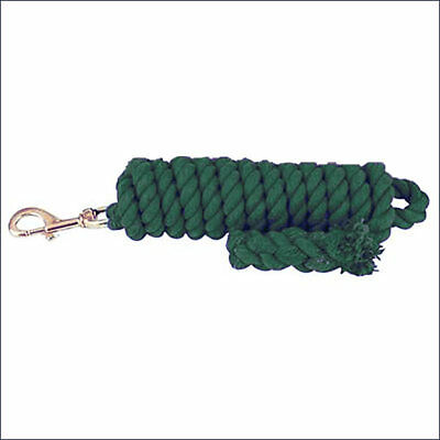HILASON HUNTER GREEN 5/8 inch x 10 Feet TIGHT TWISTED COTTON HORSE LEAD ROPE