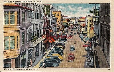 Postcard Central Avenue Panama