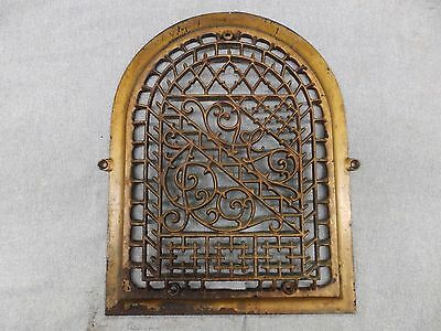 Antique Cast Iron Arch Top Dome Heat Grate Wall Register Decorative 1751-16
