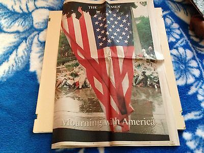 THE  TIMES  NEWSPAPER!  - SEPTEMBER 14th 2001  -  9/11  MOURNING  WITH  AMERICA