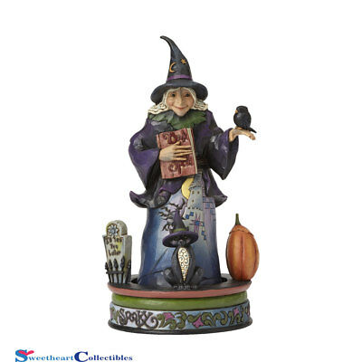 Jim Shore Halloween Witch Ghostly Ghastly Greeting 4056593 Rotate  2016