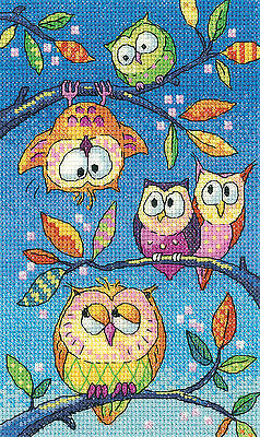 Heritage Crafts Birds Of A Feather Cross Stitch Kit - Hanging Around