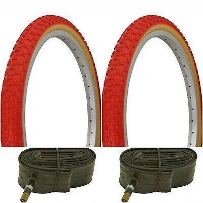 2xTires/&Tubes 20x1.75 Whitewall BMX Bicycle Tires Comp3