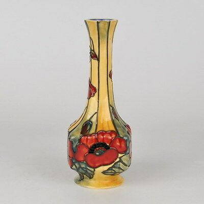"""Old Tupton Ware """"YELLOW POPPY"""" Hand Painted Tube Lined VASE (7"""") TW1691"""