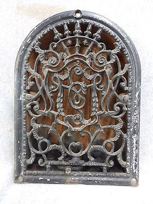 Vintage Cast Iron Arch Top Dome Heat Grate Wall Register Black 1755-16