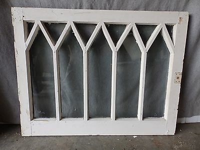 Old Antique Vintage Wood Window Diamond Pattern Garden Vtg 23x30 1762-16
