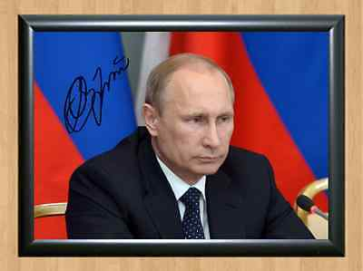 Vladimir Putin RU President Memorabilia Signed Autographed A4 Print Photo Poster