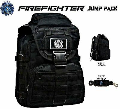 FIREFIGHTER Backpack On/Off Duty Bag Turnout Gear + FREE Fire & Rescue Key Chain