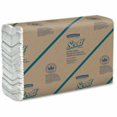 NEW! Scott Paper Towel White C-Fold 10.125 x 13.15in -Case of 12 *GREAT VALUE*