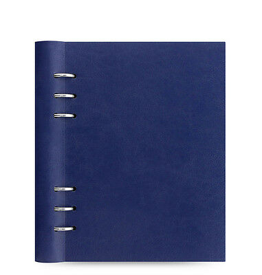 Filofax A5 Size Clipbook Classic Notebook Organiser Planner Diary Navy- 026018