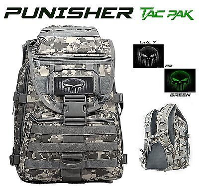 Punisher Tactical Backpack / ACU Camo Ammo / Range Bag 2 Insignia Color Options