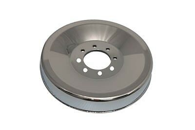 Chrome cover for rear brake drum with sprocket riveted on. Fits: XL 1952-1978