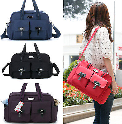 New Baby Diaper Nappy Changing Bag Tote With Mat Multifunctional Large