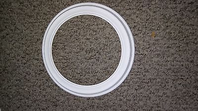 Van Hygan & Smythe White Collector Plate Frame With Hanging Fixture