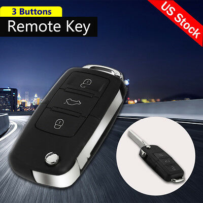 3 BNT Remote Key Fob Shell Case Blade For VW Golf Passat Polo Jetta Touran 95-09