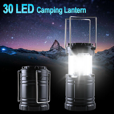 Super Bright Portable 30 LED Camping Lantern Tent Fishing Outdoor Lamp Light UK