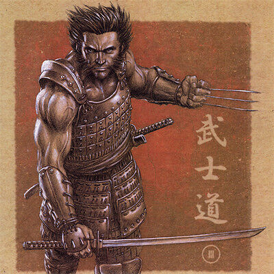 WOLVERINE Samurai ART PRINT Mike Choi SIGNED Limited 300 X-MEN Lithograph NYCC