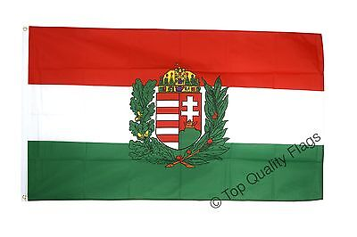 Hungary with coat of arms FLAG hungarian, magyar Banner 90x150cm - 5ftx3ft