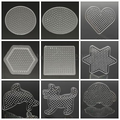 Craft Large Pegboards for Perler Bead Hama Fuse Beads Clear Square Design Board