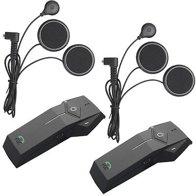 2X Motocicleta Casco Auriculares Moto intercomunicador Bluetooth Headset 1000M