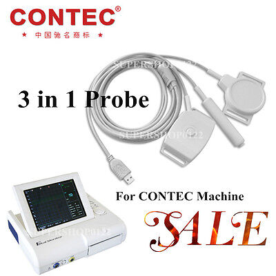 3 in 1 Probe, TOCO FHR Fetal Movement Probe for CONTEC Fetal Monitor CMS800G,Hot
