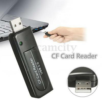 NEW High Speed USB2.0 Compact Flash CF I II MD Memory Card Reader Single Slot