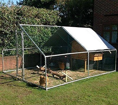FeelGoodUK Galvanised Cage, 4 x 3 x 2 m