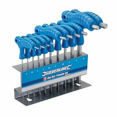 Silverline 323710 Hex Key T-Handle Set, 2-10 mm - 10 Pieces