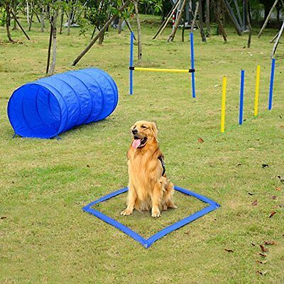 PawHut Pet Agility Training Equipment Dog Play Run Jump Obedience Training Set +