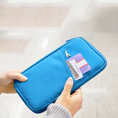 Portable Travel Passport Credit Id Card Cash Holder Wallet Purse Case Bag Pouch