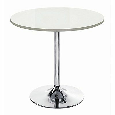 ASPECT Kuros 4 Seater Dining Round Table-Wooden Top, Chromed Base WDT12W