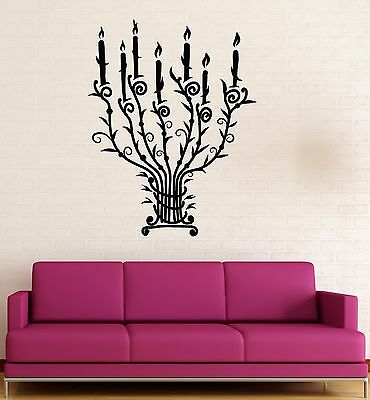 Vinyl Wall Stickers Candle Candlestick Vintage Chandelier Light Decal (172ig)