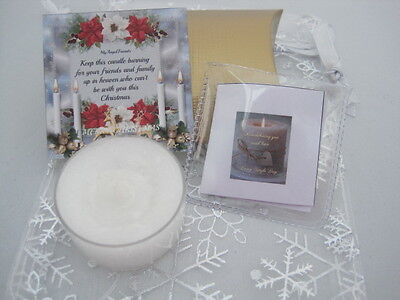 Unique Memorial Loss Loved One Baby Infant Bereavement Christmas Candle Gift +Fp