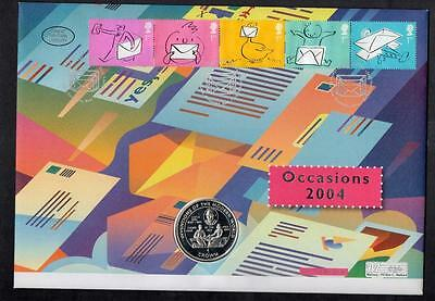 GB 2004 Occasions Silver Coin Cover