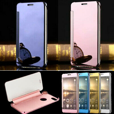 Mirror Effect Ultra Thin Smart Clear View Flip Cover Case For iPhone 6 6S 7 Plus