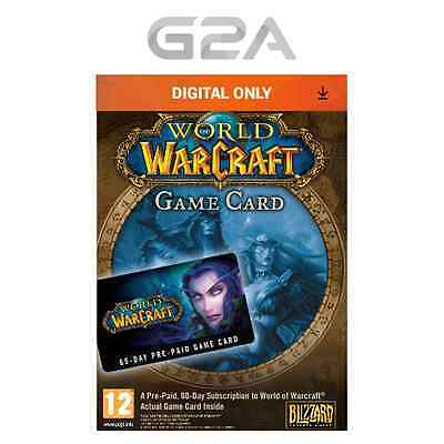 WoW GameCard 60 Days Timecard - World of Warcraft Pre-paid Code 60 day EU/UK NEW