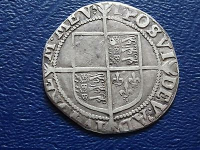 Great Britain 7Th Issue Elizabeth 1St Hammered Silver Shilling 1601 - 2 Mm 1