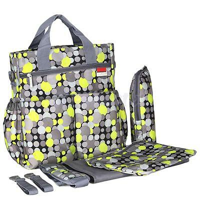 6Pc/Set Yellow Multifunction Mommy Bag Baby Diaper Mummy Changing Nappy Bag