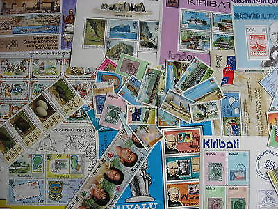 BRITISH COMMONWEALTH islands 39 different MNH stamps, souvenir sheets! Check em