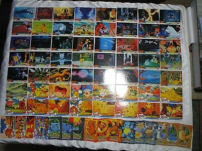 NM-MINT Complete Topps 1st First Movie Pokemon Cards. Blue Logo 72 cards total