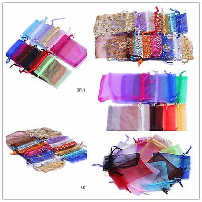 Wholesale For Jewelry Candy Bags Drawstring Organza Beads Wedding Gilding