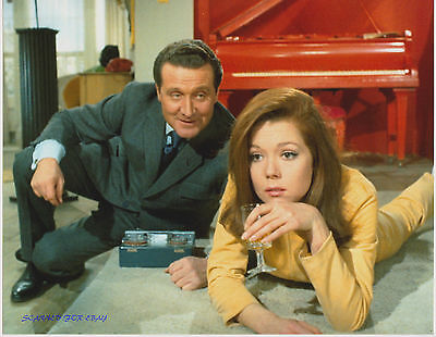 The Avengers Diana Rigg Patrick Macnee Great Rare Photo