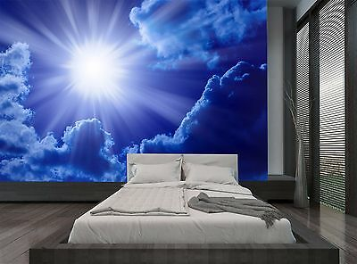 Sky Blue Clouds Sun Nature Wall Mural Photo Wallpaper GIANT WALL DECOR