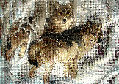 Dimensions Complete Tapestry Counted Cross Stitch Picture Unframed Winter Wolves