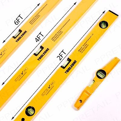 "PROFESSIONAL SPIRIT LEVEL SET SHORT-EXTRA LONG 72""/1800mm/6' Metal Builders Tool"